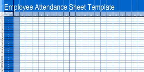 36 General Attendance Sheet Templates In Excel Thogati Employee Monthly Attendance Sheet Template Excel