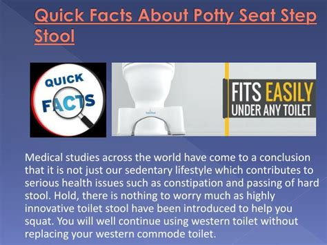 Stool Facts by Ppt Facts About Potty Seat Step Stool Powerpoint