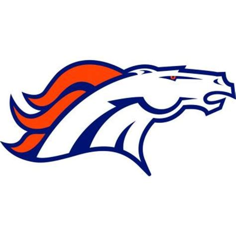 items similar to denver broncos tattoo model graphic fathead 55 in x 33 in denver broncos logo wall decal
