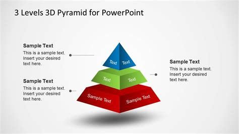 pyramid powerpoint template 3d pyramid diagram diagram with spacing for powerpoint