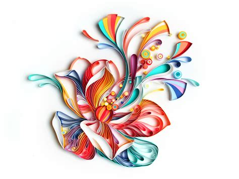 flower design using colored paper mesmerizing paper art made from strips of colored paper by