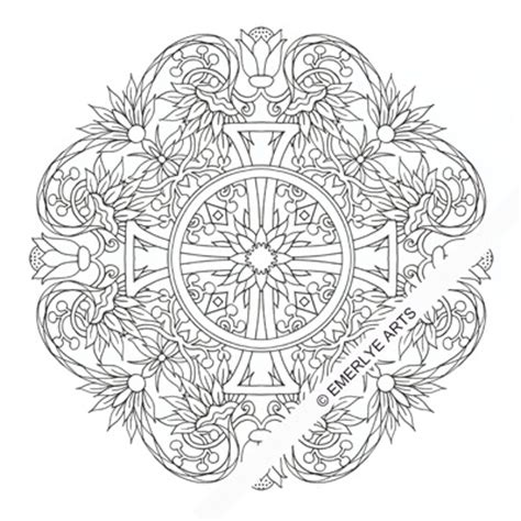 cross mandala coloring pages mandala coloring pages cross with wings coloring pages
