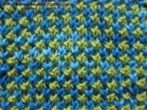 knitting with two colors two color bee stitch pattern knitting unlimited