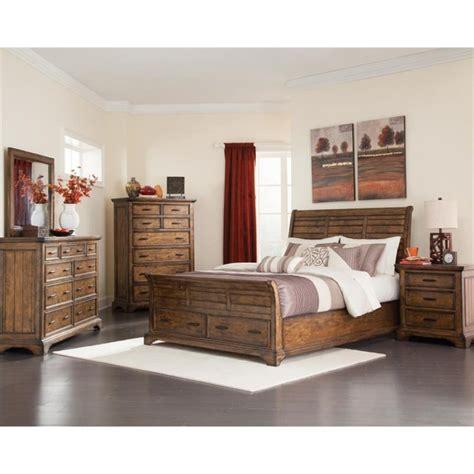 5 piece bedroom set king coaster elk grove 5 piece king sleigh bedroom set in vintage bourbon 203891ke s5