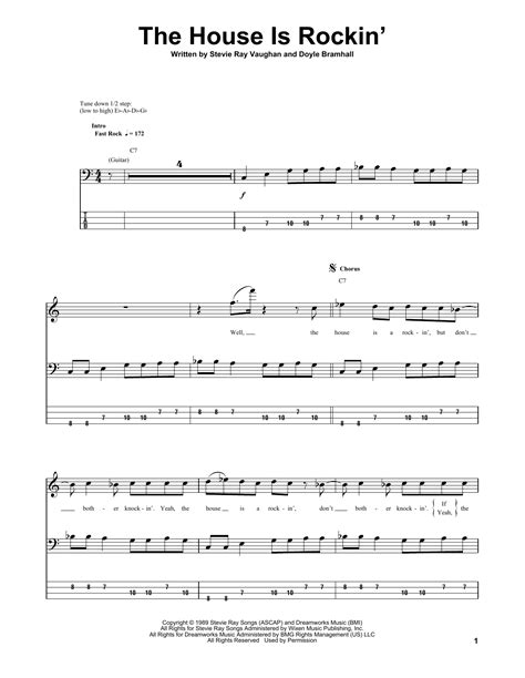 stevie ray vaughan the house is rockin the house is rockin guitar tab by stevie ray vaughan