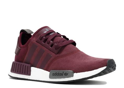 Adidas Nmd R1 Maroon Suede S75231 Authentic Original nmd r1 w burgundy black white
