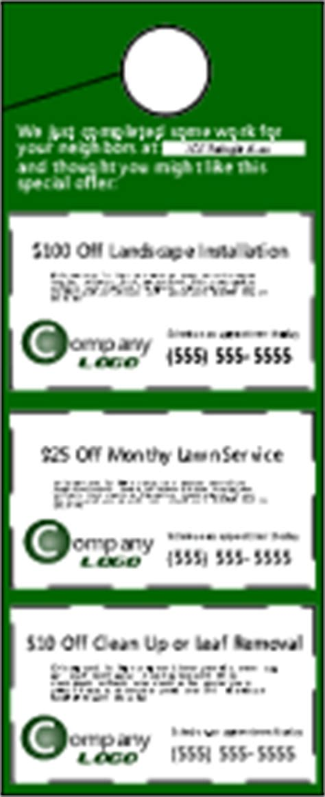 Premium Kit From Lawn Care Directory Lawn Care Door Hanger Template