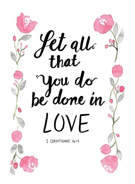 Scripture Wall Art Home Decor Quot 1 Corinthians 16 14 Let All That You Do Be Done In Love
