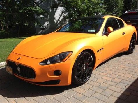 orange maserati buy used maserati gran turismo super exotic matte orange