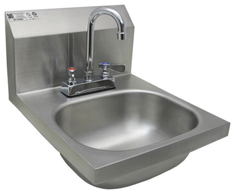 industrial bathroom sink 14 quot x16 quot stainless steel wall mount hand sink with deck