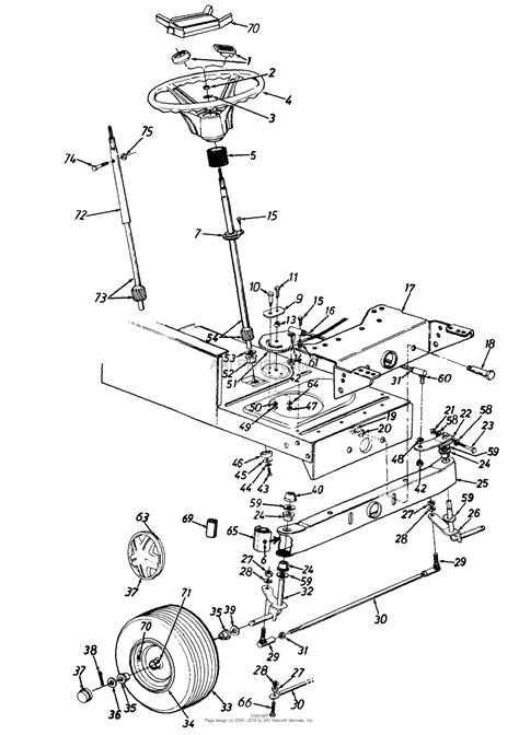 front wheel assembly diagram mtd 134m605g118 1994 parts diagram for steering assembly