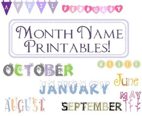 Calendar Names Month Name Printable 12 M By Nicki Wendel Teachers