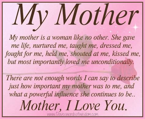 a biography about my mother daveswordsofwisdom com my mother is a woman like no other