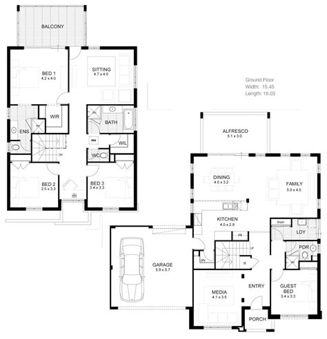 Contemporary 4 Bedroom House Plans by Two Story House Floor Plans Australia Escortsea
