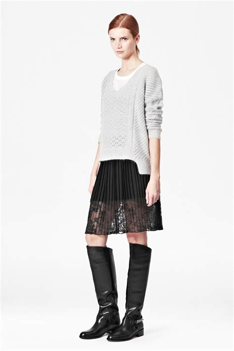 pleated lace skirt sale connection usa