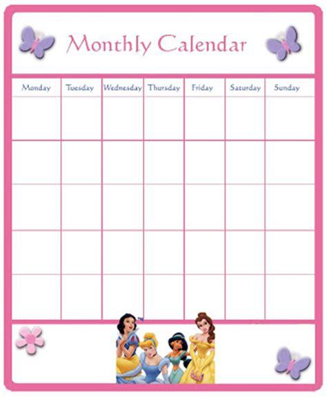 Disney Calendar Template