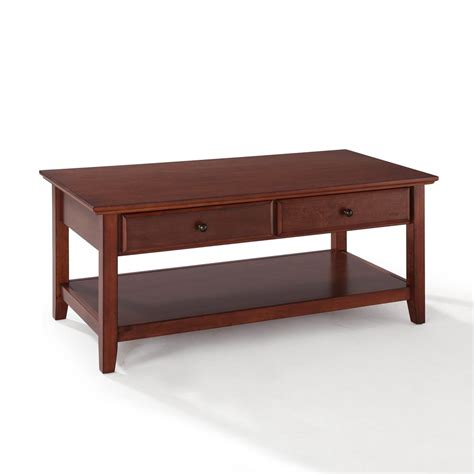 Coffee Tables With Storage Drawers crosley coffee table with storage drawers by oj commerce 229 00