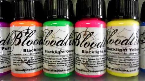 tattoo uv ink for sale bloodline skincandy blacklight uv tattoo ink youtube