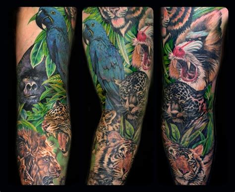 animal tattoo sleeve designs ideas on my animal sleeve tattoos pinterest