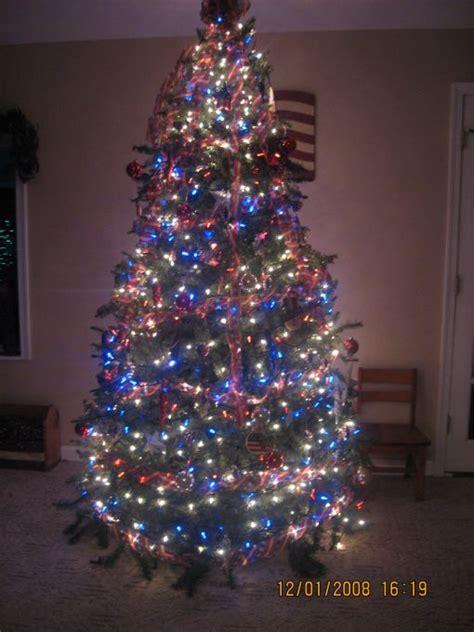 patriotic christmas tree christmas pinterest