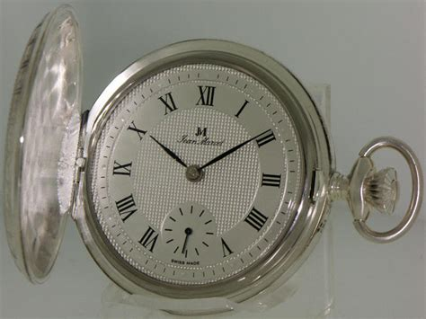 jean marcel pocket watches white silver decorated