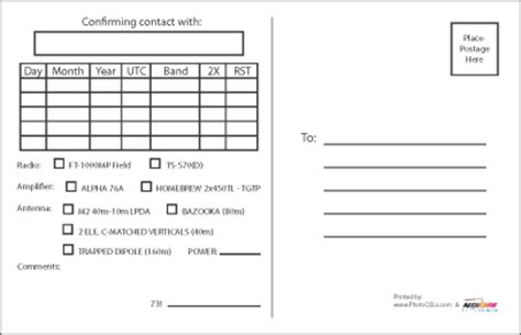 Qsl Card Design Template by Qsl Card Template Shatterlion Info