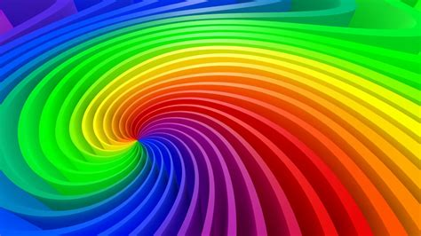 colorful abstract twisted spiral full hd video