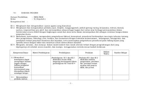 Buku Aksi Matematika Smk Mak Xii silabus resmi smk dan mak kelas x xi dan xii 6