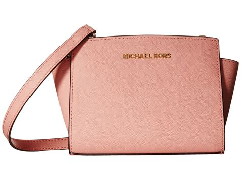 Michaelkors Mini Messenger Pink lyst michael michael kors selma mini messenger in pink