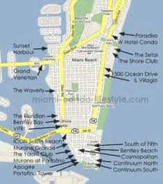 South Beach Miami Map by South Beach Condos For Sale