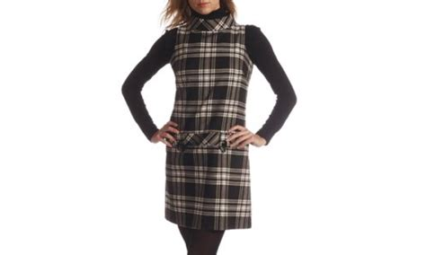 Checked Pinafore Dress la redoute checked pinafore dress retro to go