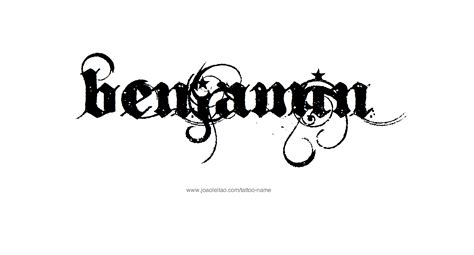 ben tattoo benjamin name designs