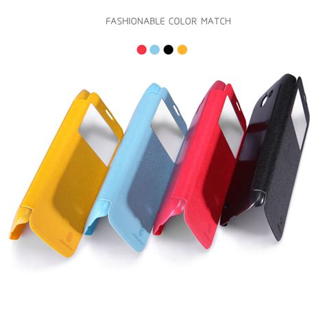 Huawei Ascend G730 Nillkin Fresh Series Leather Flip Flip Cover nillkin fresh series view window leather flip for