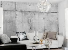 Interior decoration with concrete wallpaper ideas interior design