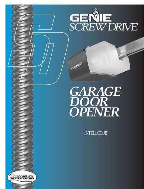 genie garage door openers manual genie garage door opener 3511035556 user guide manualsonline