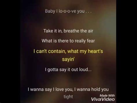 baby i you alvord lyrics karaoke