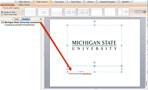 adding layout to powerpoint mircosoft powerpoint windows accessibility tutorial