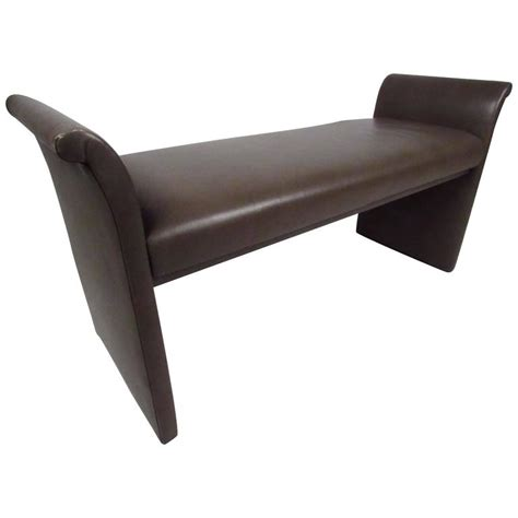 vinyl benches midcentury vinyl window bench for sale at 1stdibs