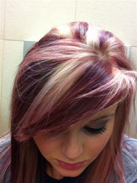 highlights under crown hair 2015 burgundy hair with blonde highlights hairstyle archives