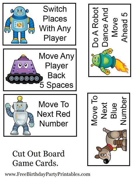 printable games cards diy birthday blog free robot birthday party printables