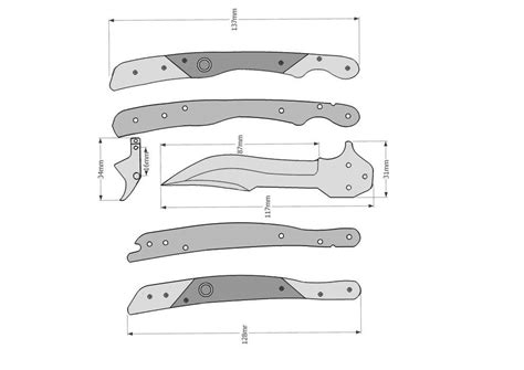 Naja Custom Bali Jerzeedevil Butterfly Knife Template