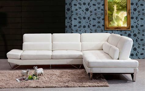 white modern leather sectional modern white leather sectional sofa vg833 leather sectionals