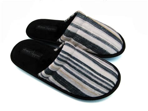 mens house slippers men s house slippers stripe design 2 mps0309 163 8 99 monster slippers