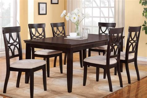 Jessica Mcclintock Dining Room Furniture by Poundex Furniture 7 Piece Dining Room Set F2199 F1221
