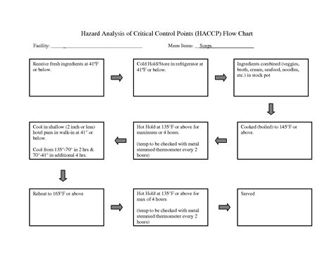 haccp template word stunning haccp flow chart template pictures inspiration
