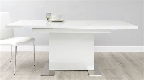 sanza white gloss compact extendable dining table danetti