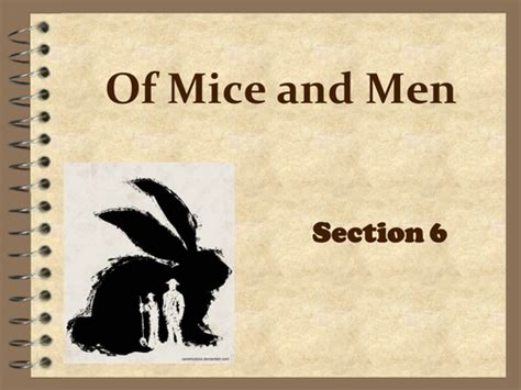 of mice and men section 4 ks4 of mice and men section 6 language study by