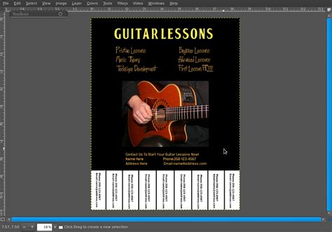 design flyer gimp cosmic ace how to create a tear off tabs flyer in the