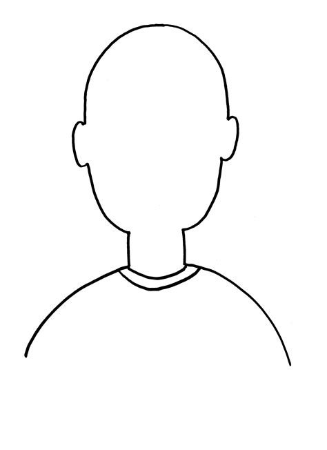 person template preschool blank outline cliparts co