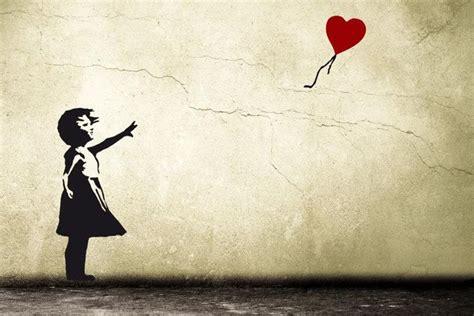 banksy balloon girl wall decal hope heart balloon